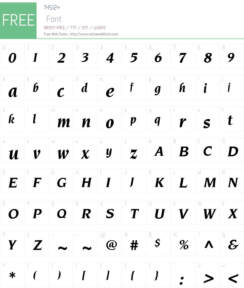 Pinnerese-BoldItalic Font Screenshots