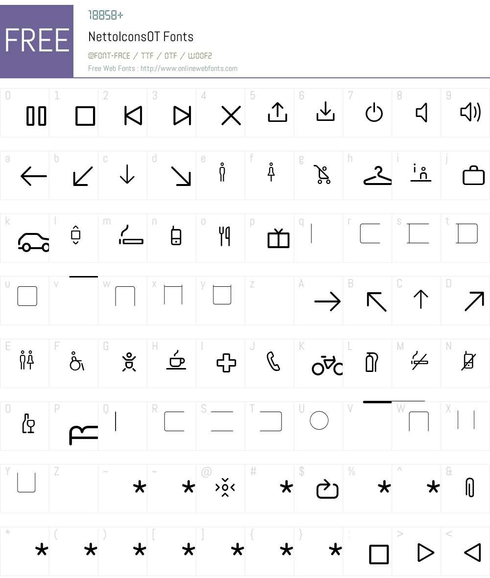 NettoIconsOT Font Screenshots
