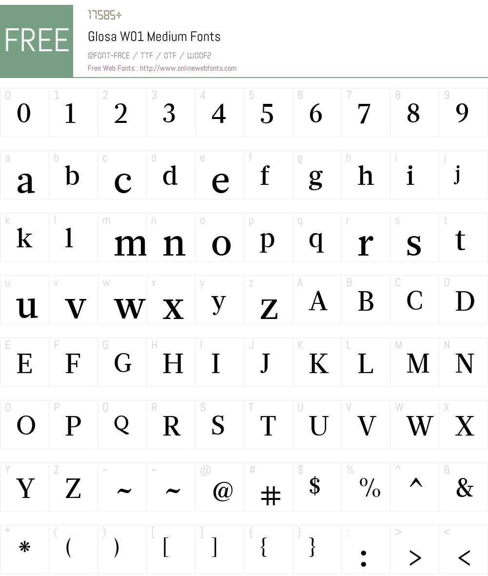 GlosaW01-Medium Font Screenshots