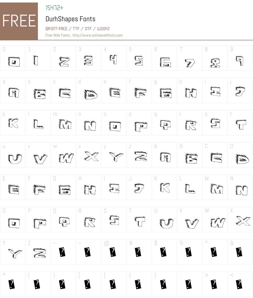 DurhShapes Font Screenshots