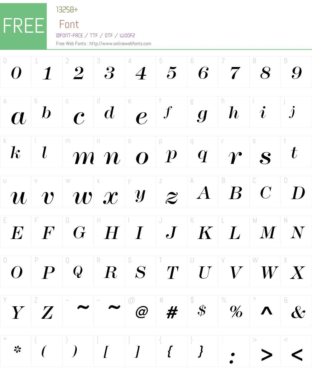 ModernNo216EF Font Screenshots