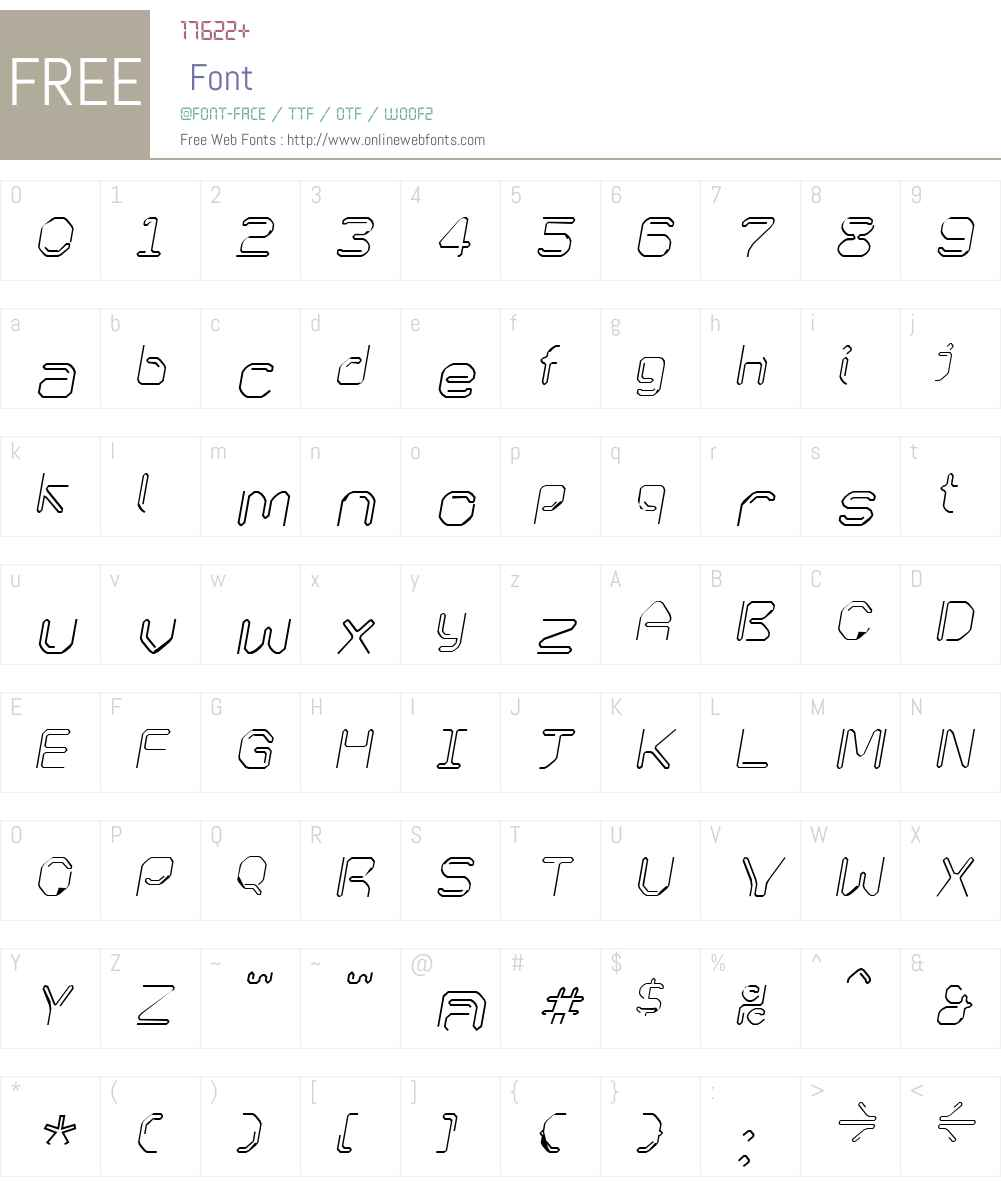 KneeonSquare Italic Font Screenshots