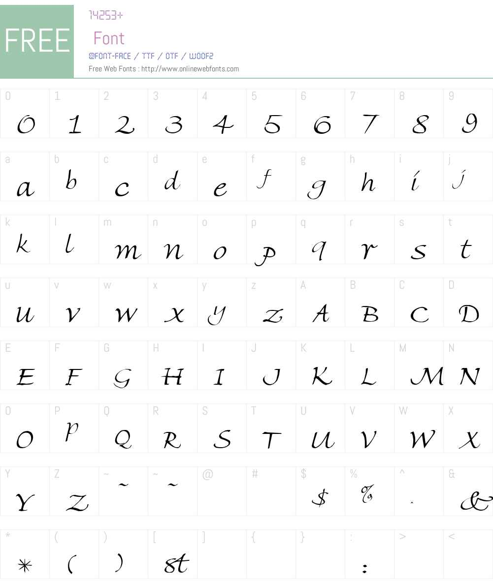 Freehand Font Screenshots