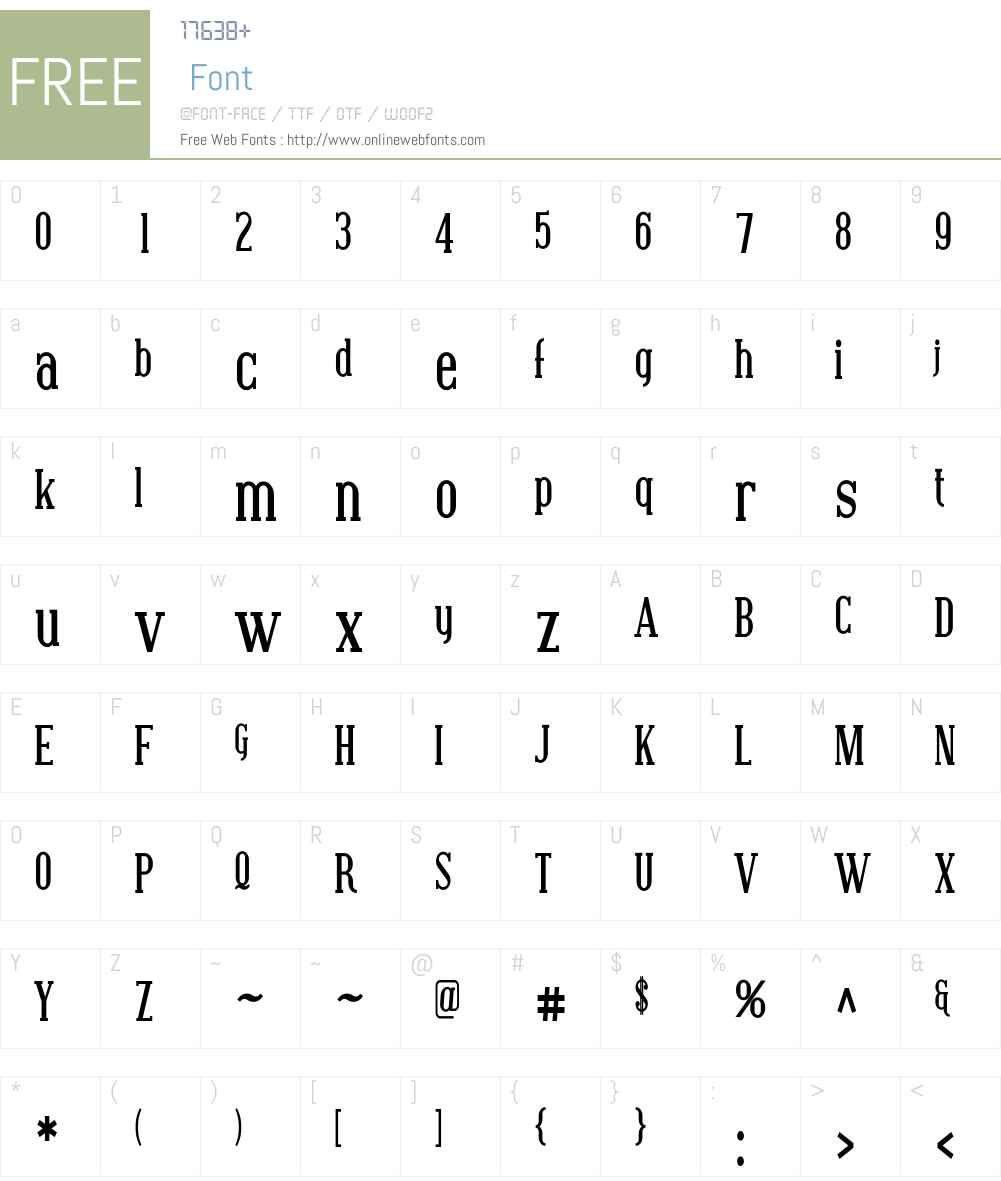 Covington Cond Font Screenshots