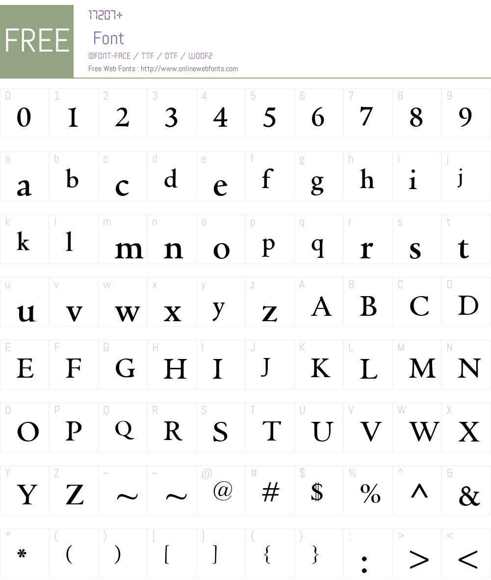 GriffoClassicoW00-Bold Font Screenshots