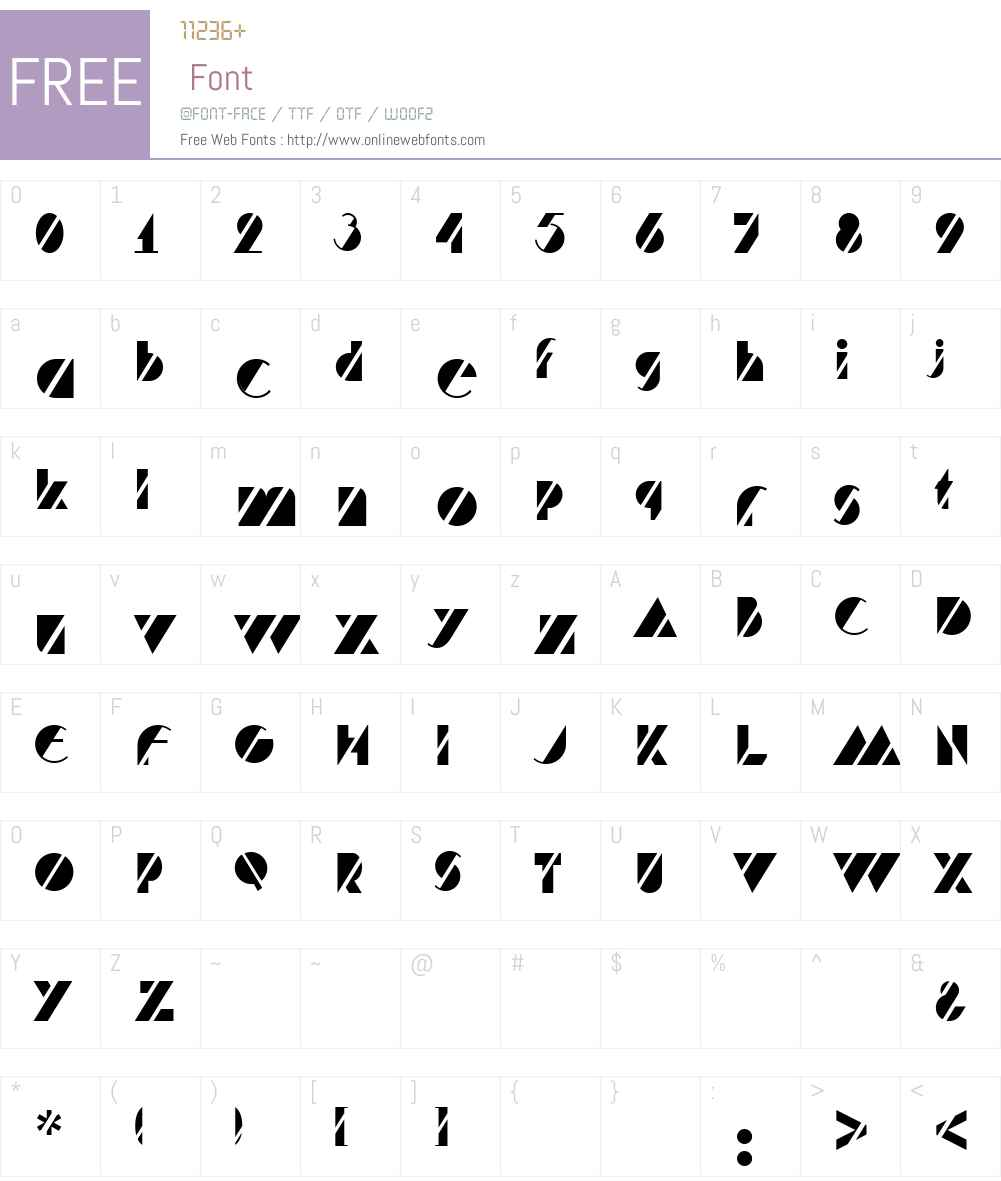 HFF Code Deco Font Screenshots