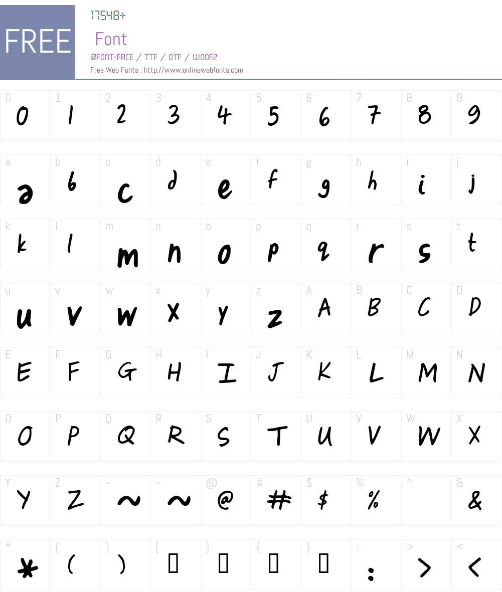 Izza Font Screenshots