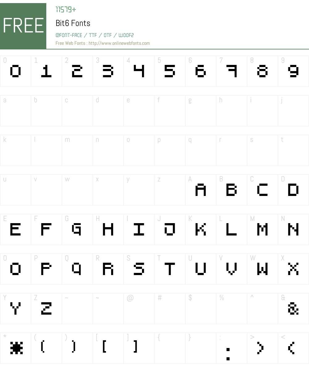Bit6 Font Screenshots