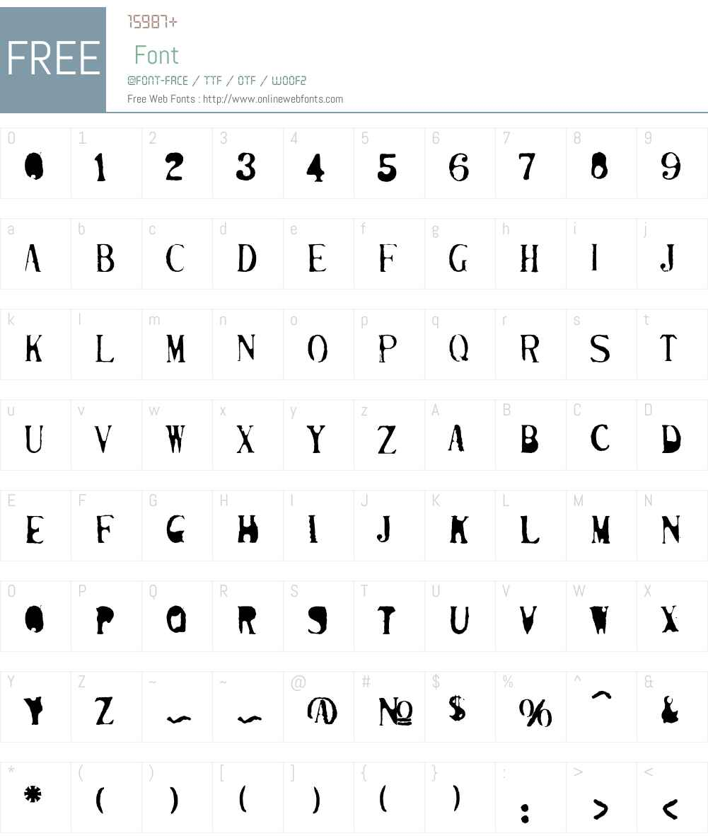 Mutilated Font Screenshots