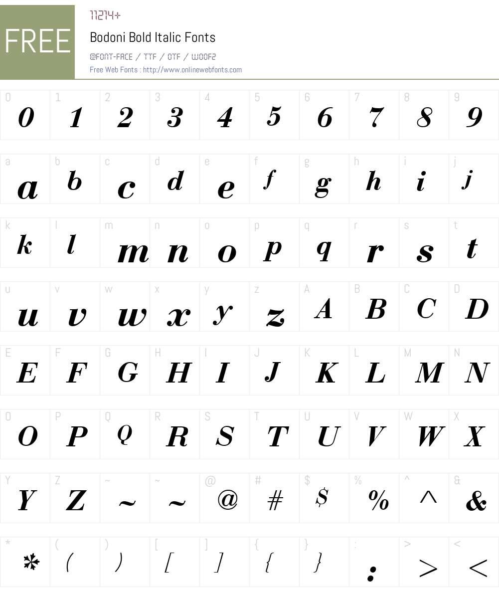 Bodoni-DTC Font Screenshots