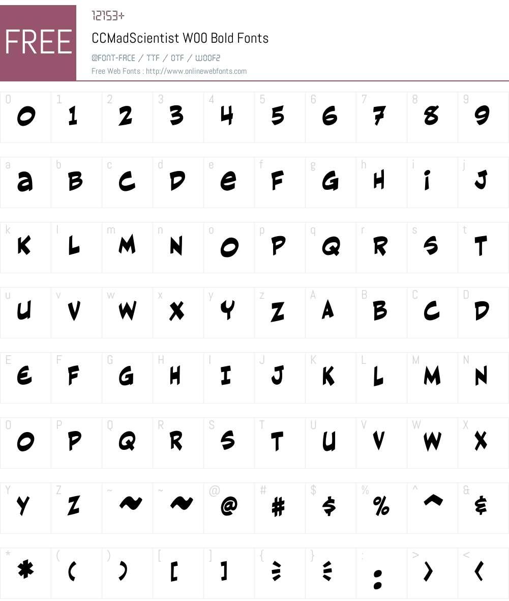 CCMadScientistW00-Bold Font Screenshots