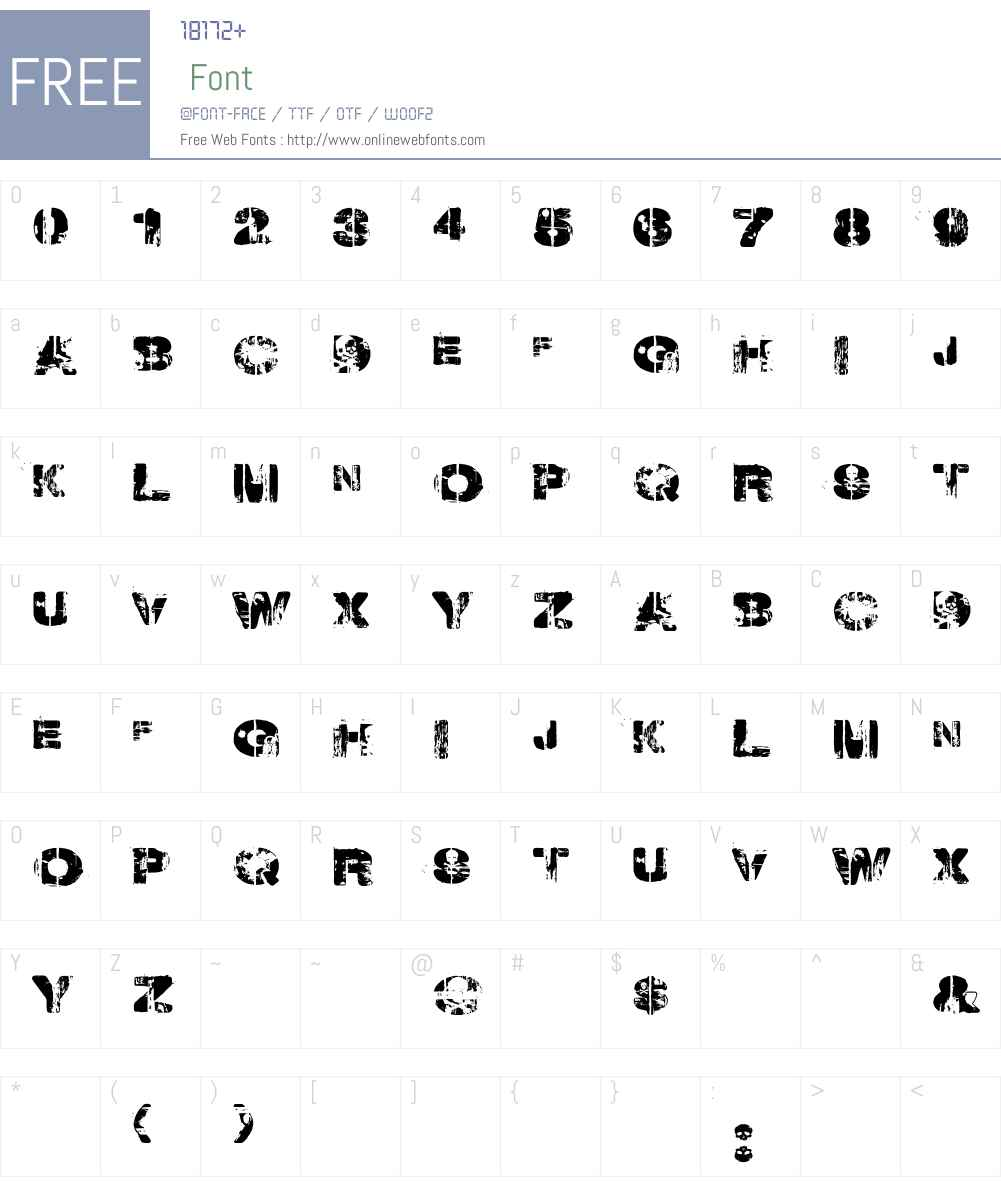 Weekend Warrior Font Screenshots