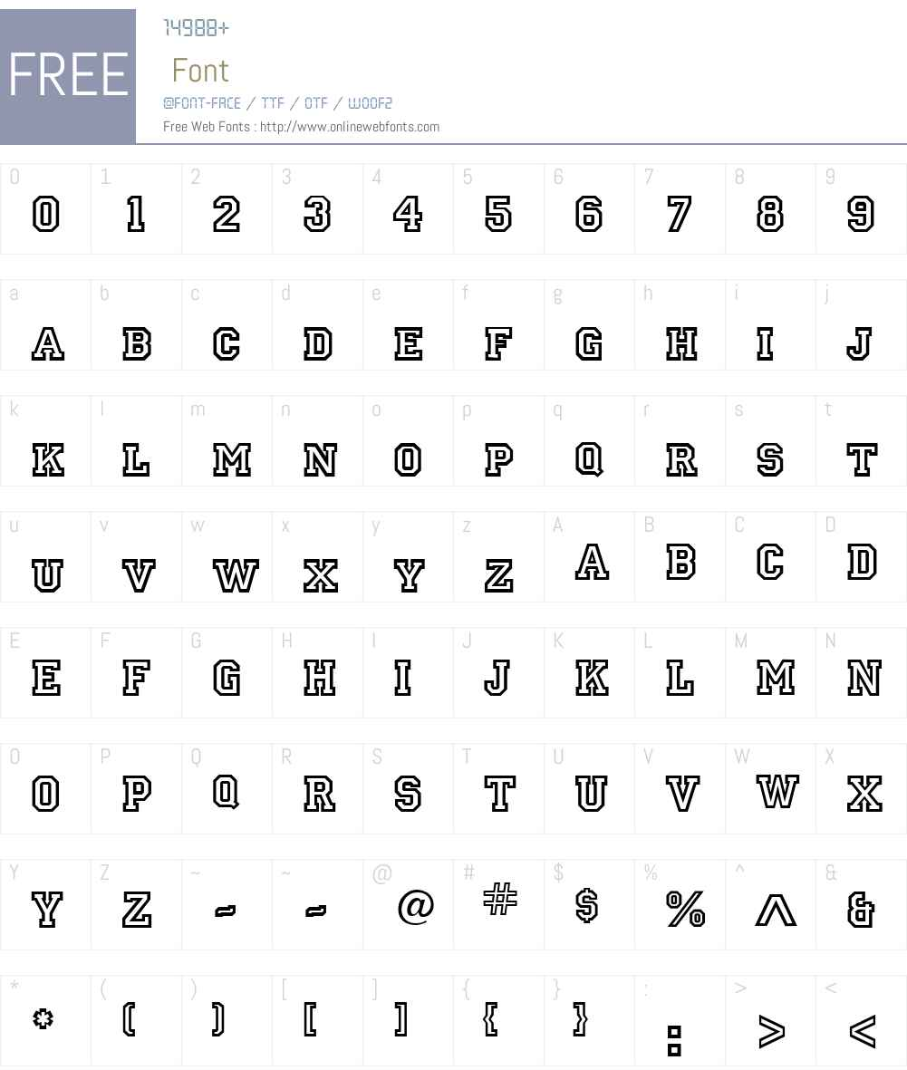 Letterman Font Screenshots