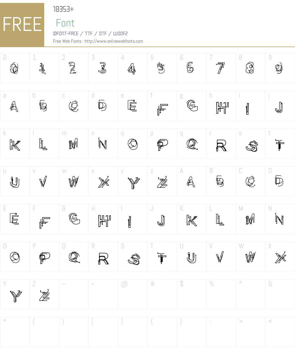 Problematic Piercer Font Screenshots