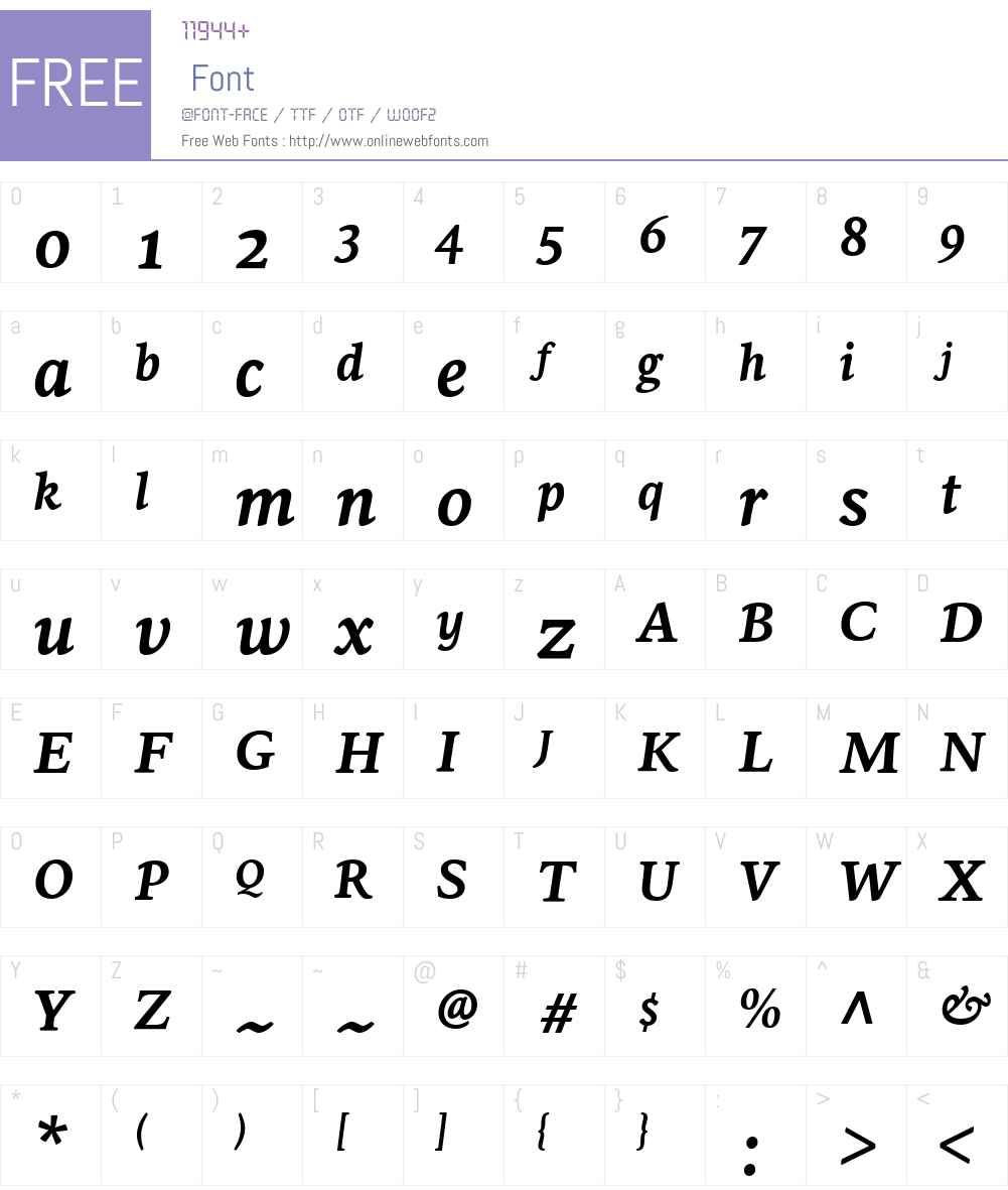 SirbaGreekW04-BoldItalic Font Screenshots