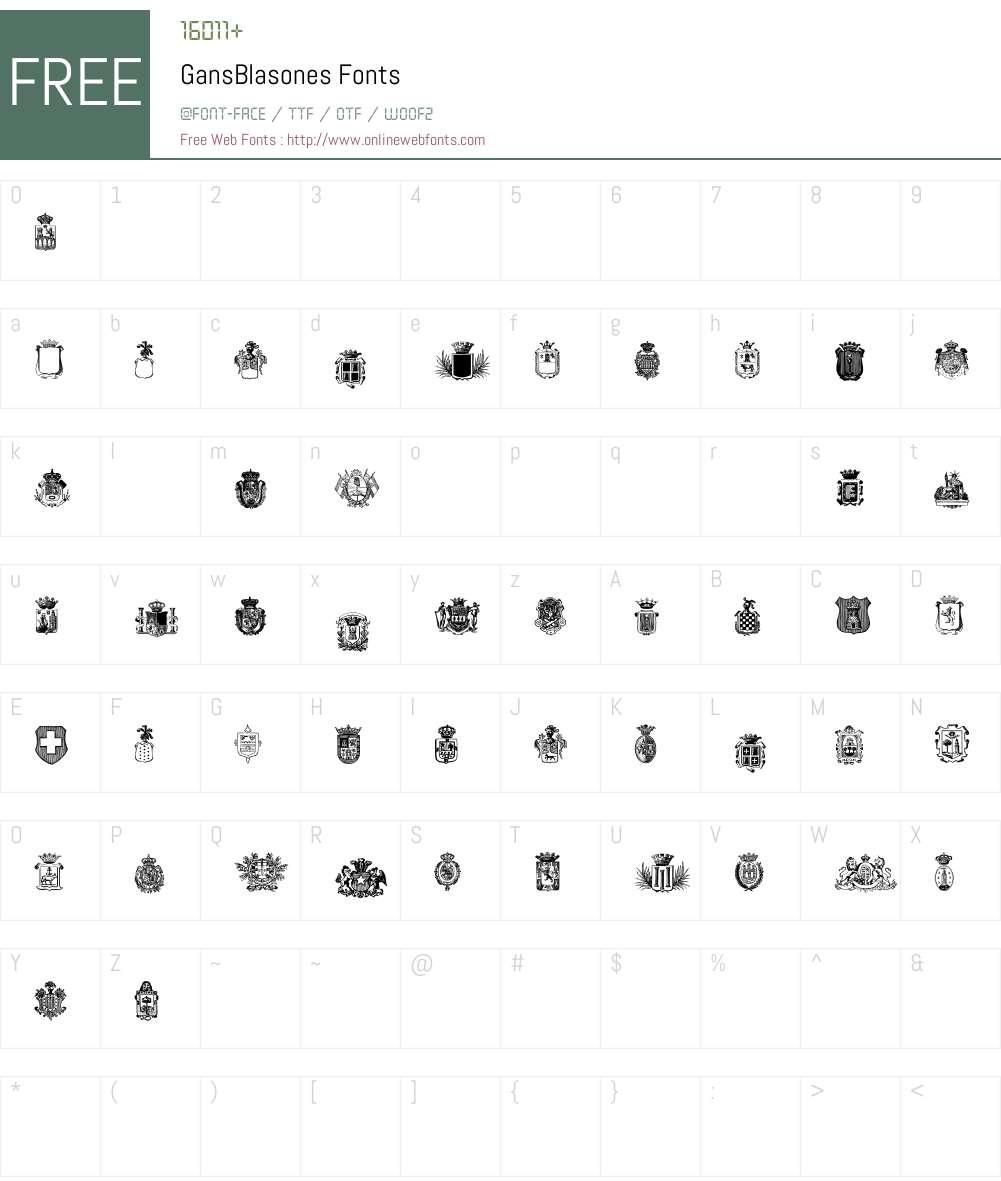 GansBlasones Font Screenshots