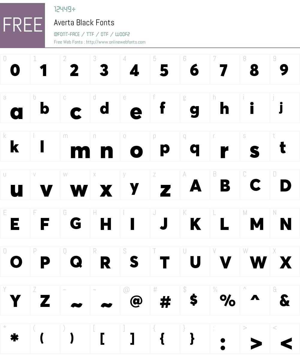 Averta-Black Font Screenshots