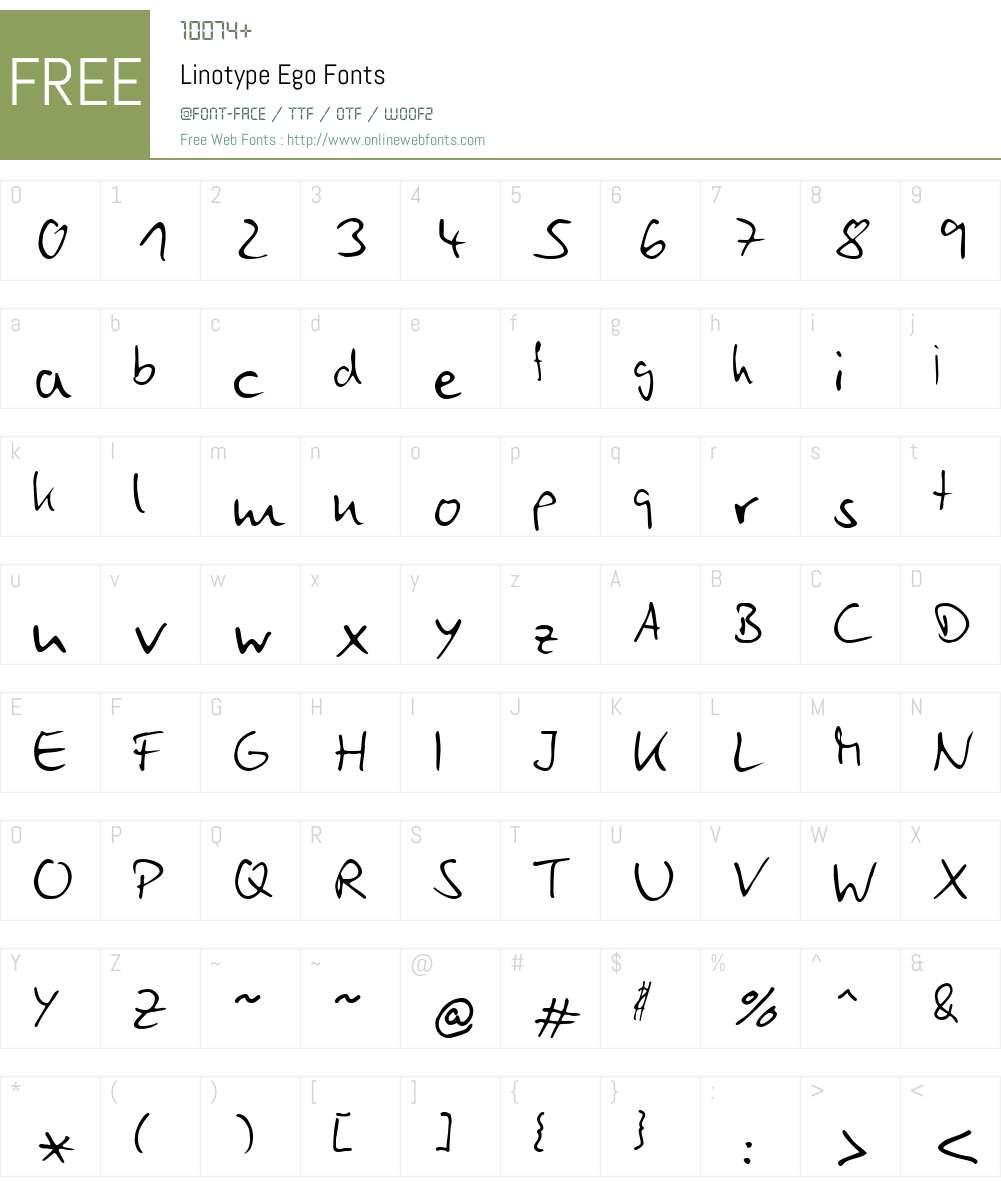 LTEgo Font Screenshots