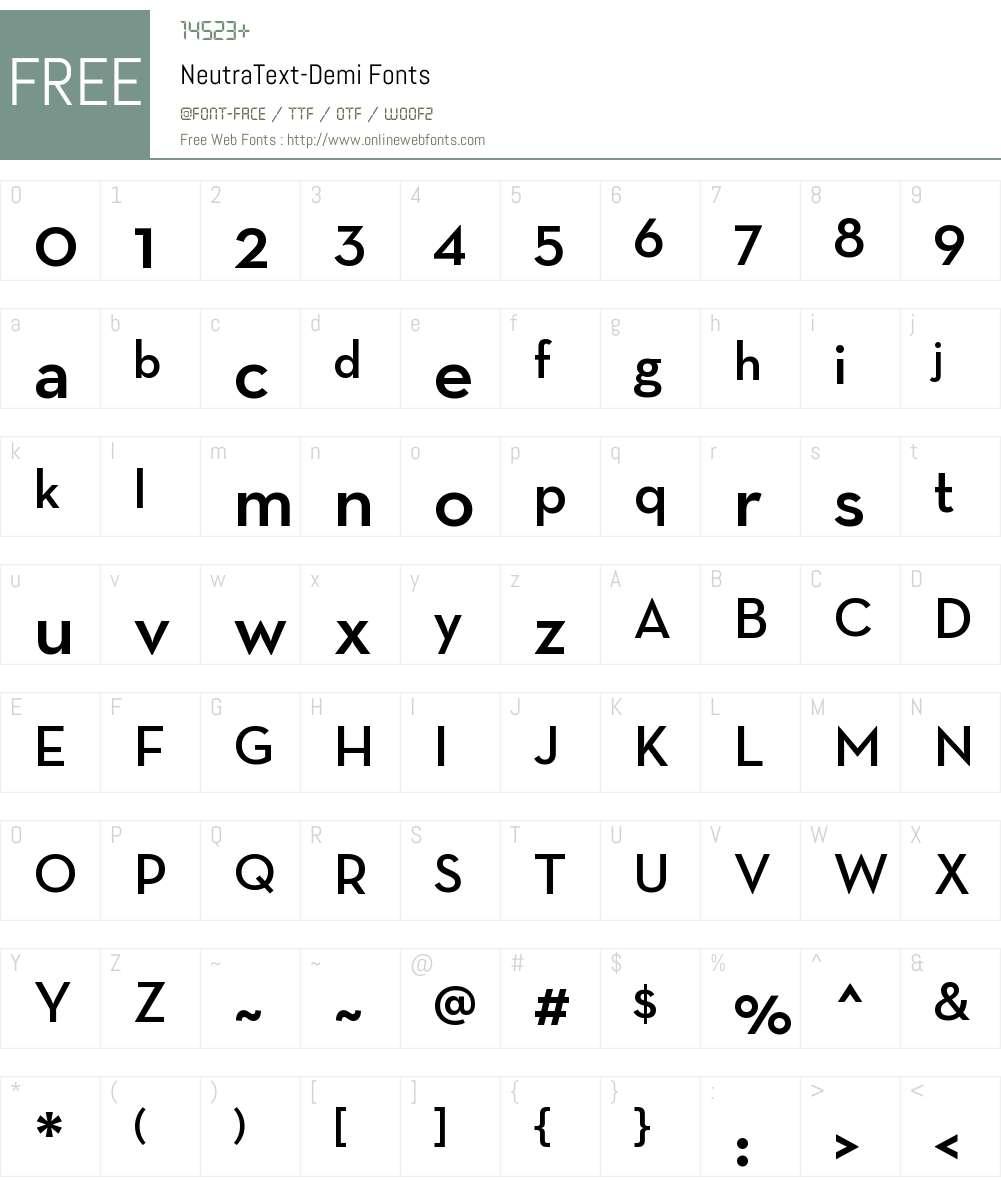 Neutra Text Light Font Screenshots