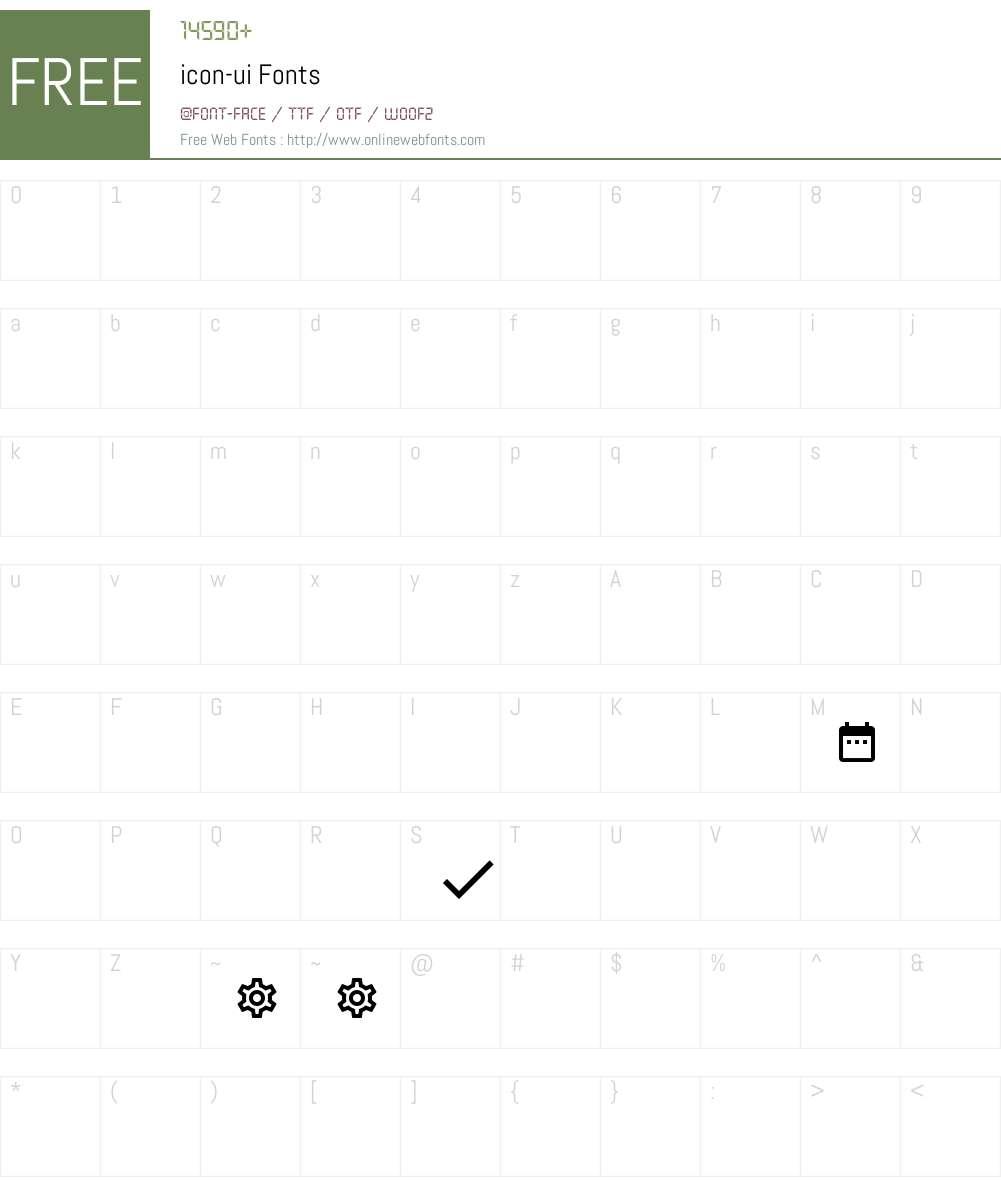 icon-ui Font Screenshots