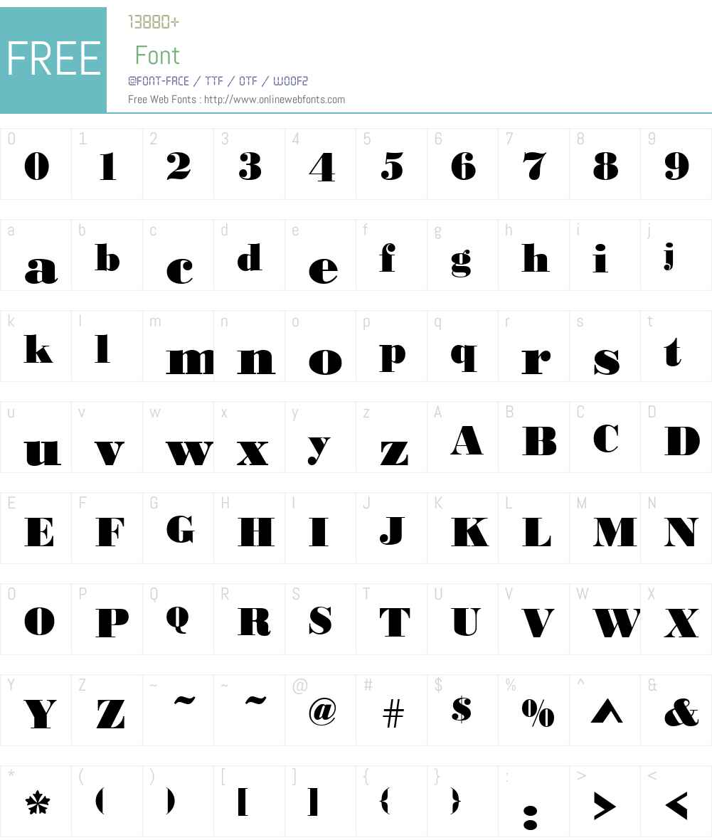 Bodoni-Black Font Screenshots