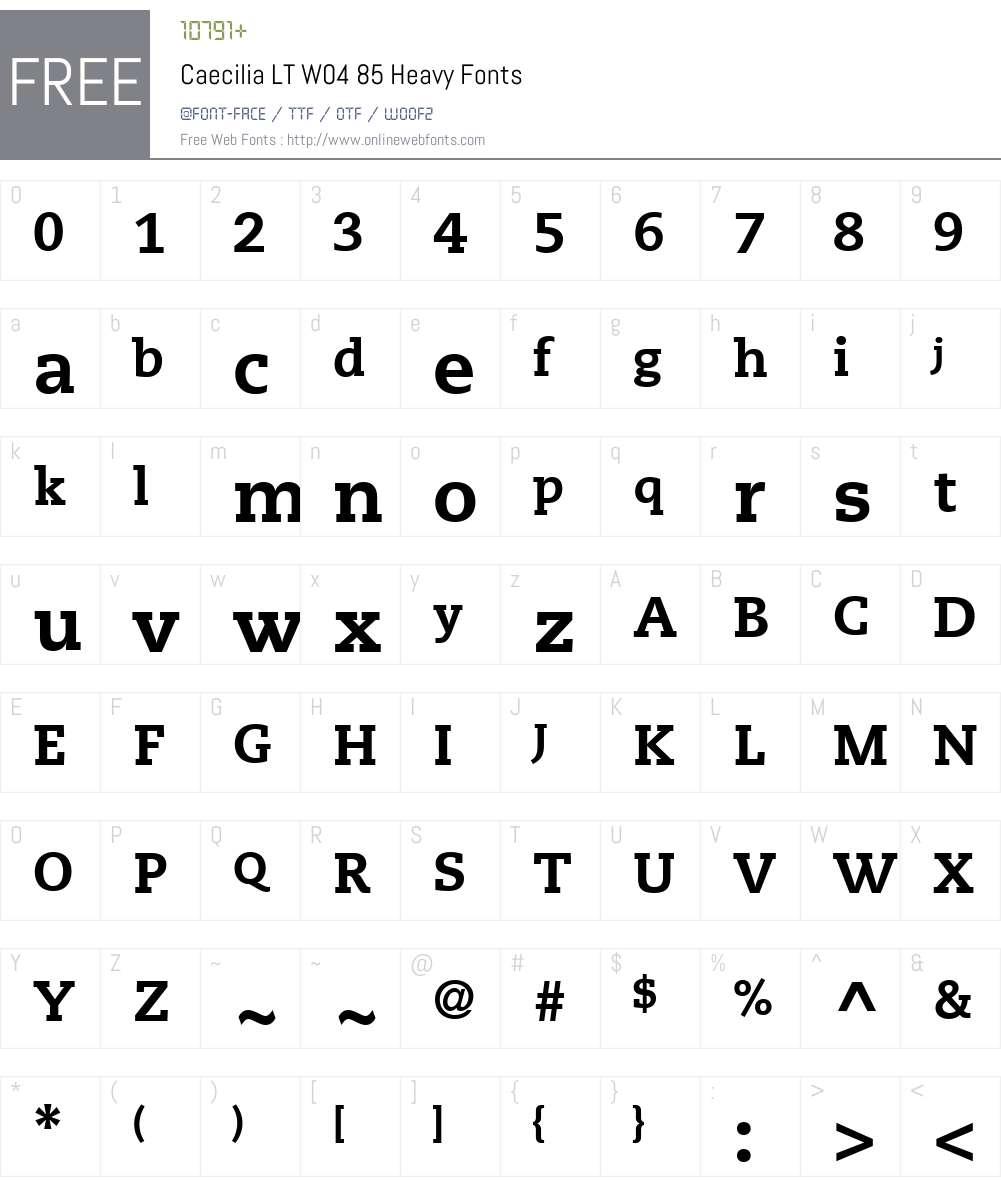 PMN Caecilia Font Screenshots