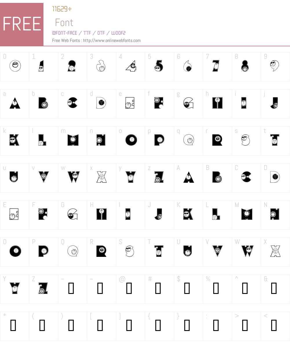 SunshineKiddyFont Font Screenshots