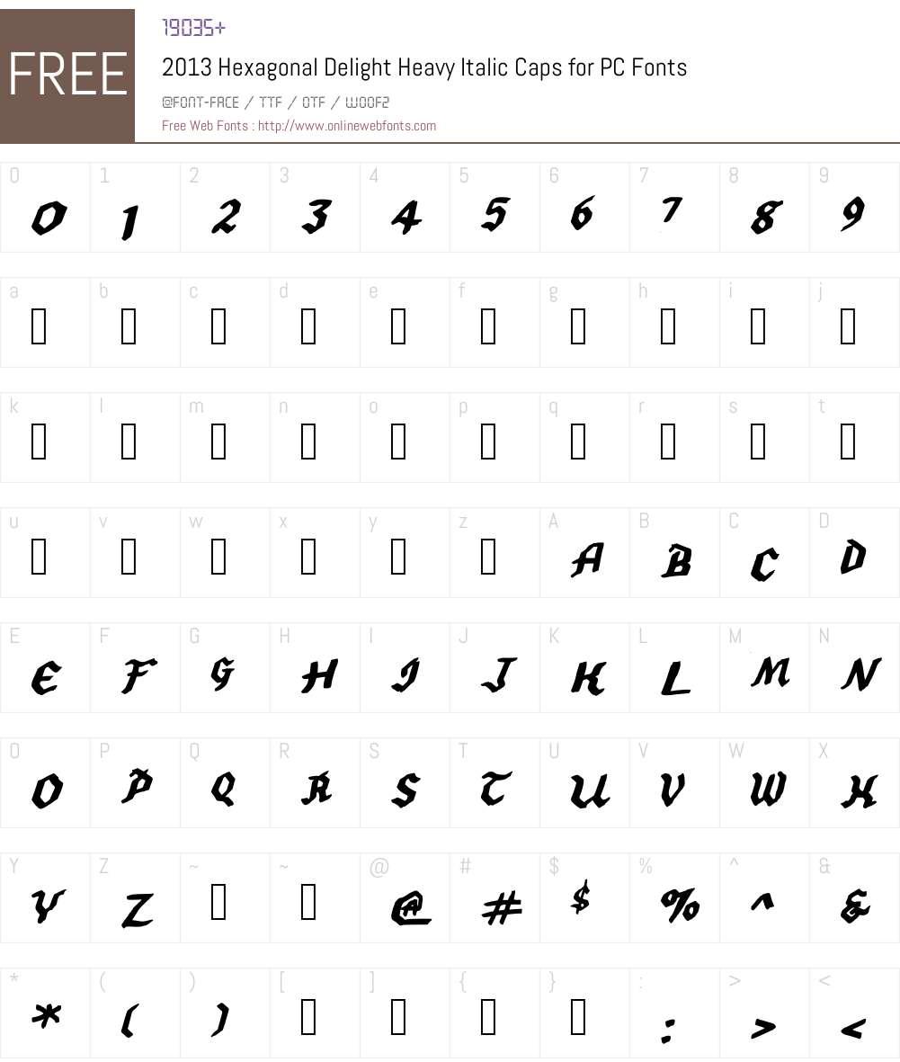2013 SWMCA Demo Font Screenshots