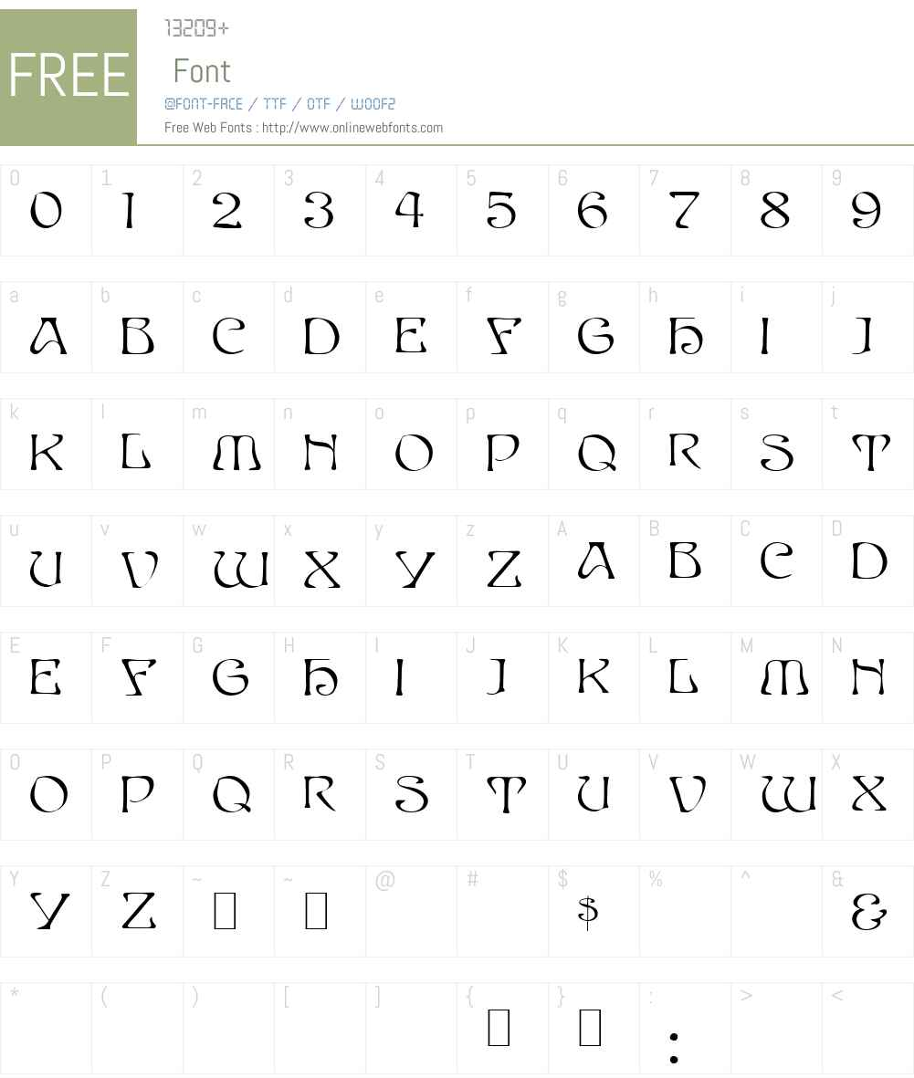 PassCaps Font Screenshots