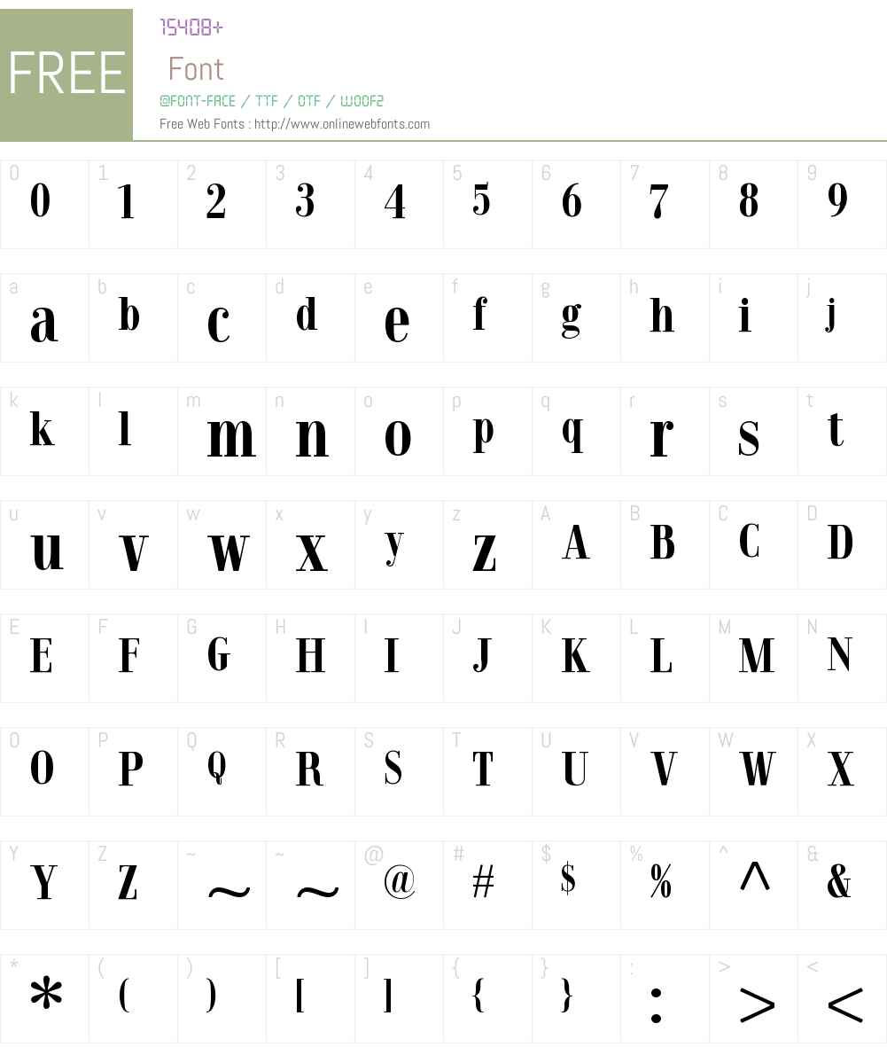 JelesCondensedBold Font Screenshots