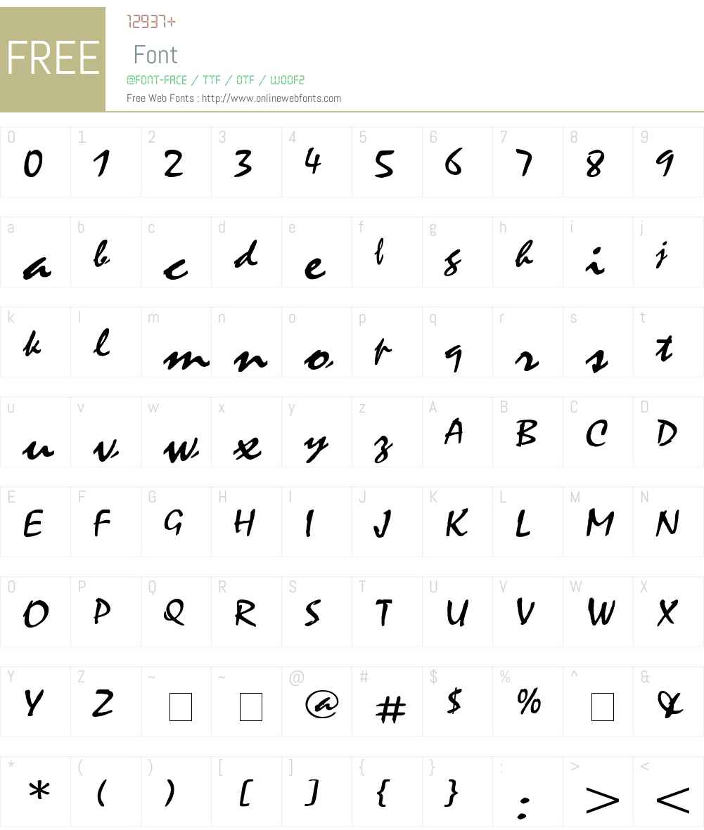 Mystic Wide Font Screenshots