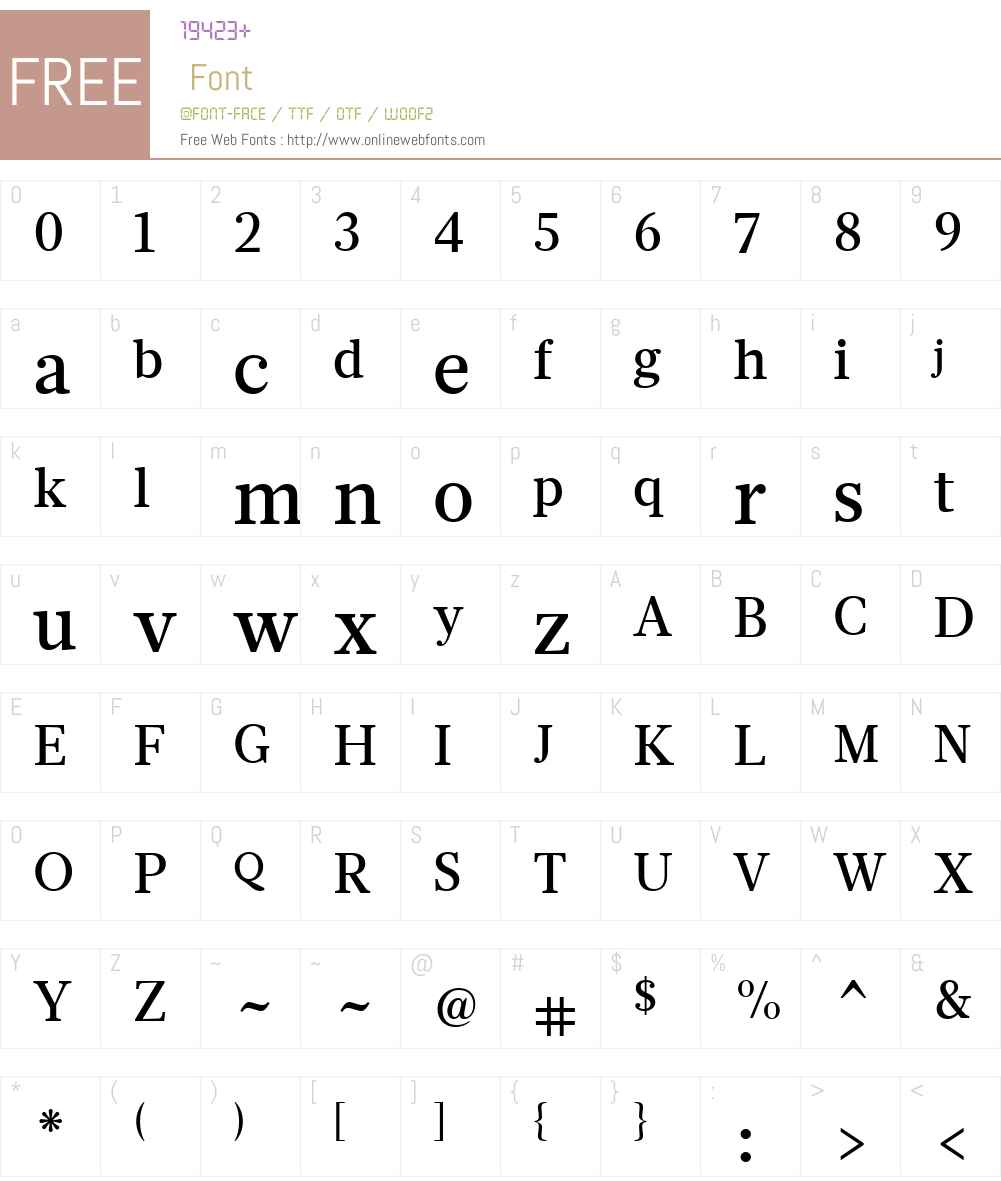 GlosaW01-TextMedium Font Screenshots