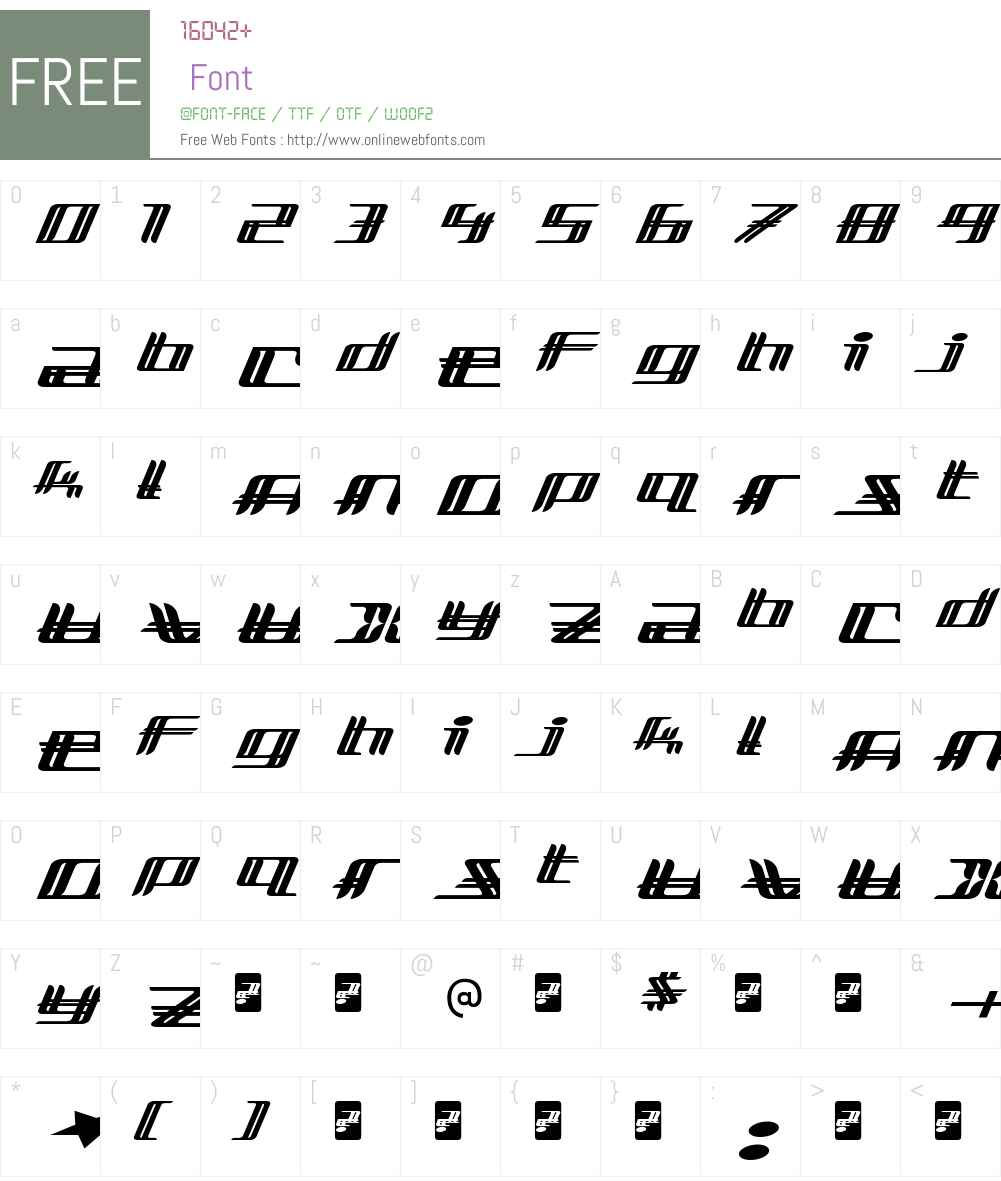Lewinsky Font Screenshots