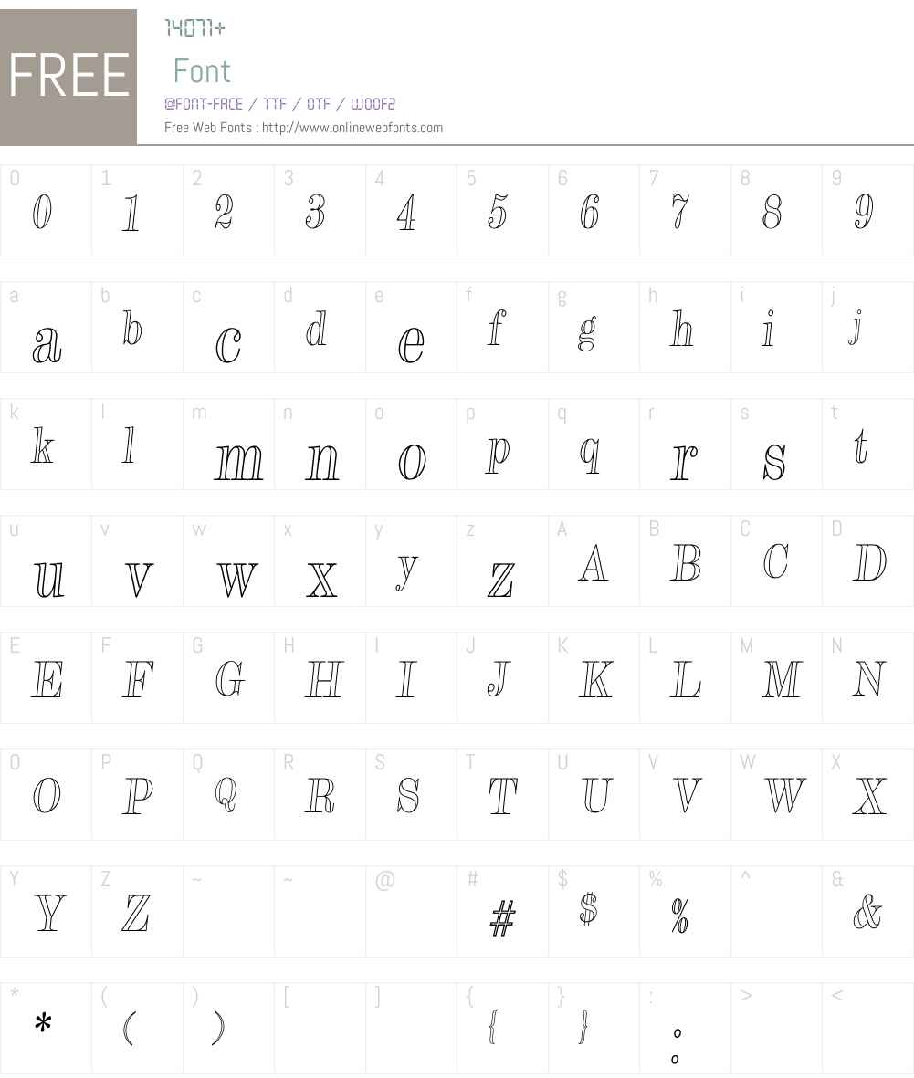SparrowOutlineW00-Regular Font Screenshots