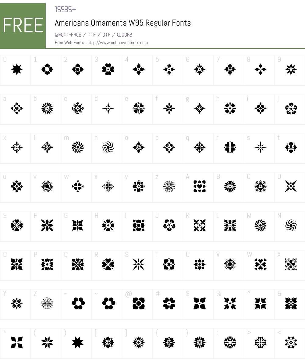 Americana Ornaments Font Screenshots