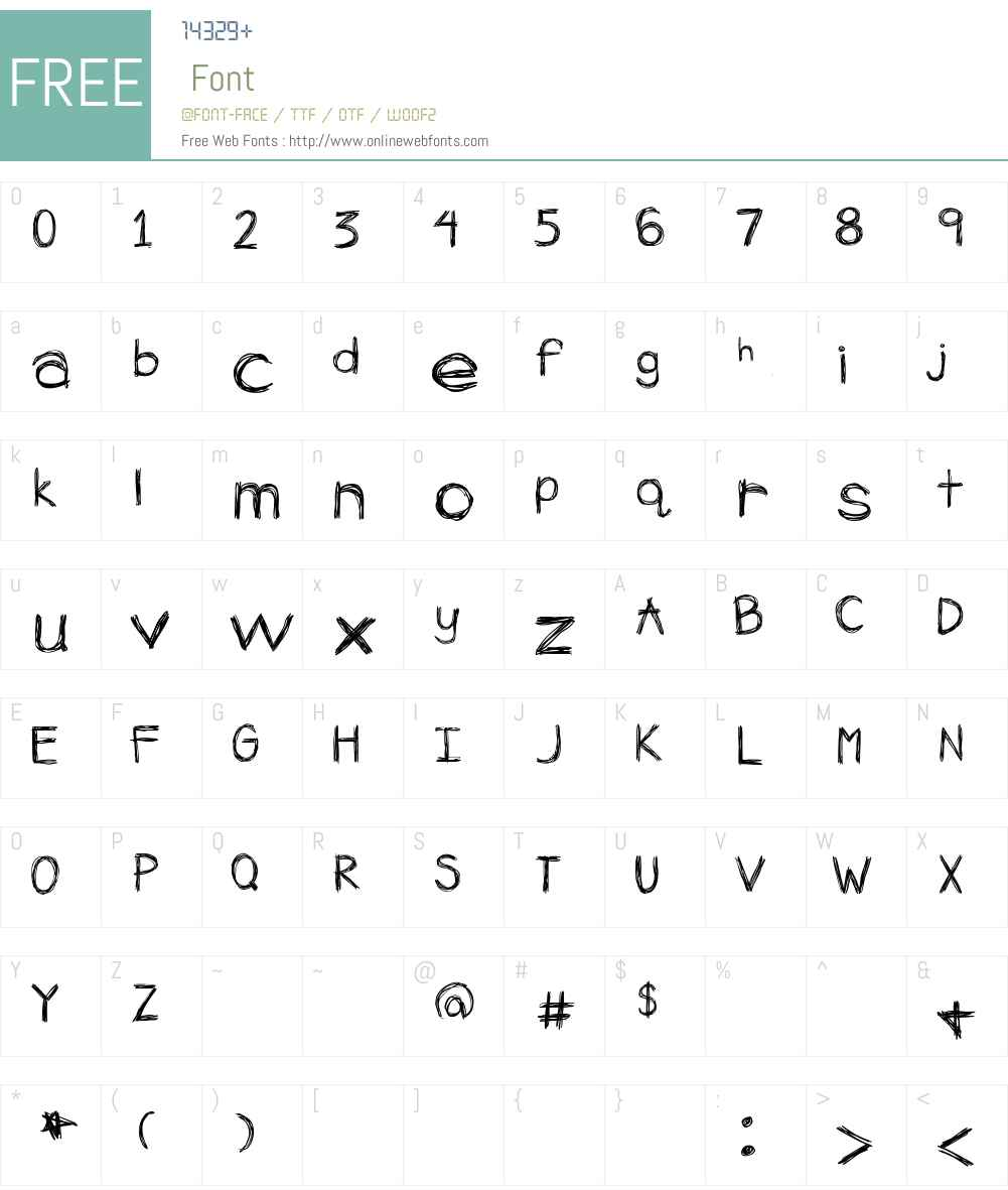 AppleSpice Font Screenshots