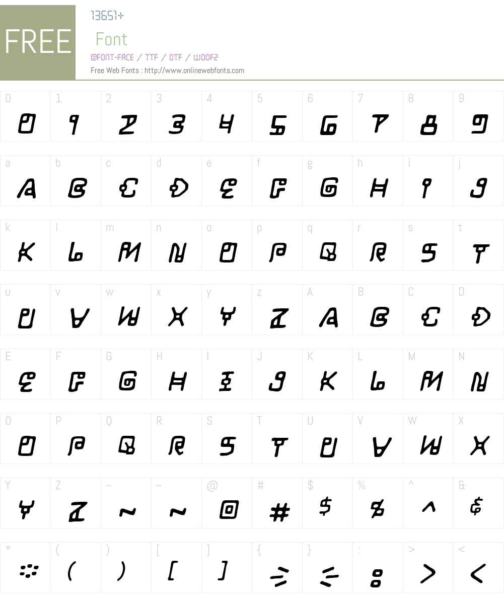 LifeForm BB Font Screenshots