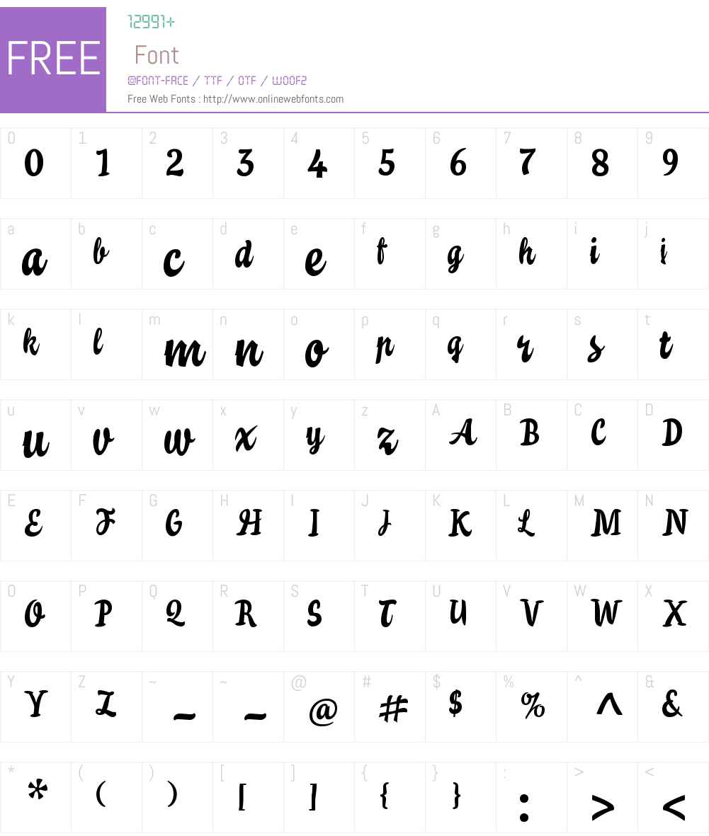 TejaW00-Regular Font Screenshots