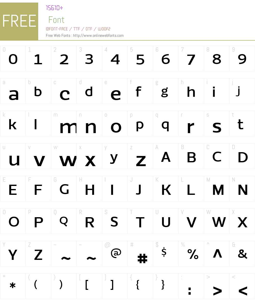 EzzoW01-Bold Font Screenshots