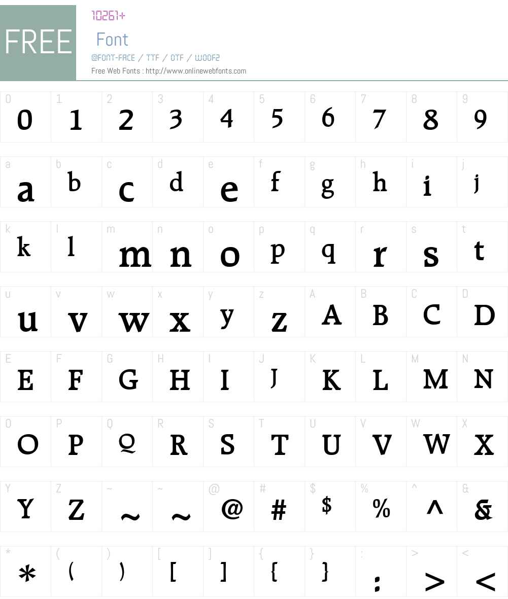 Recognita Book SSi Font Screenshots
