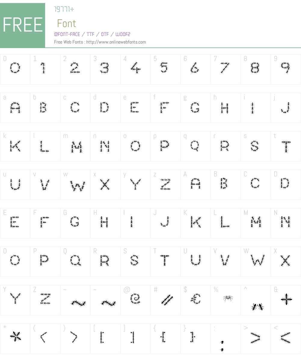 ANTY Font Screenshots