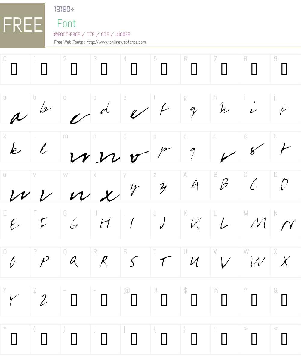 BabyBazonga Font Screenshots