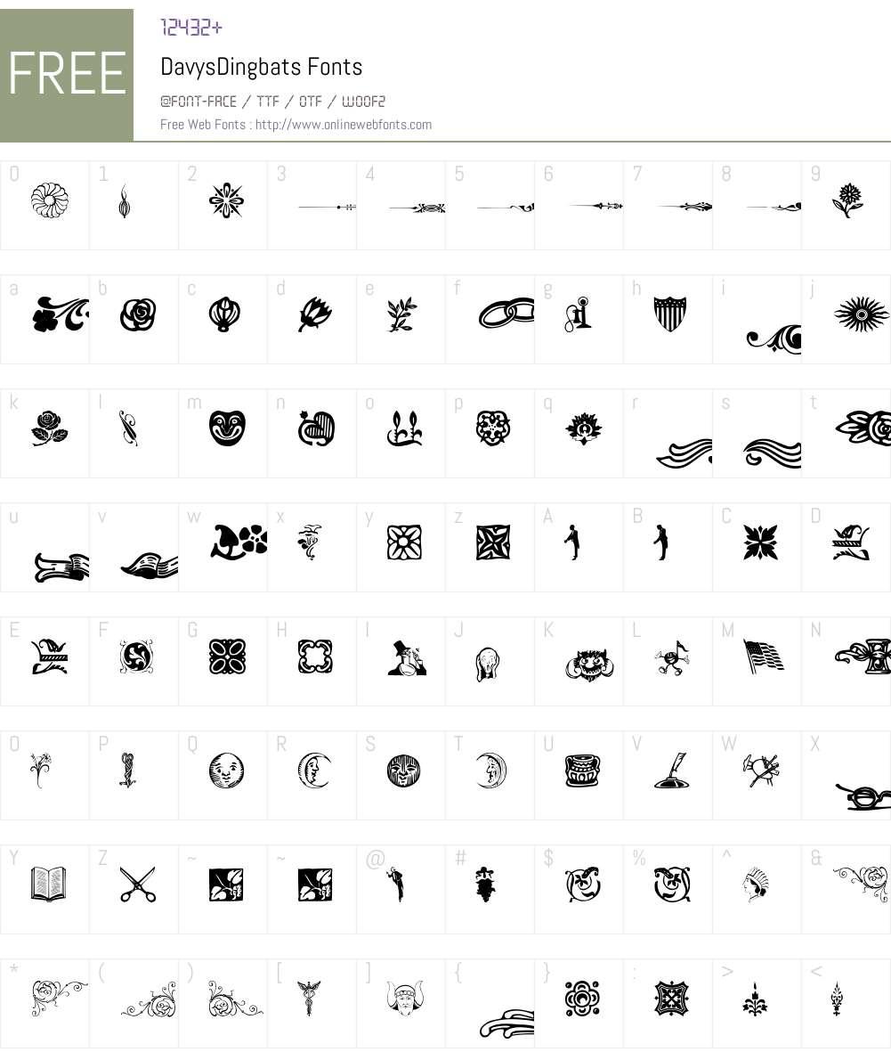 DavysDingbats Font Screenshots