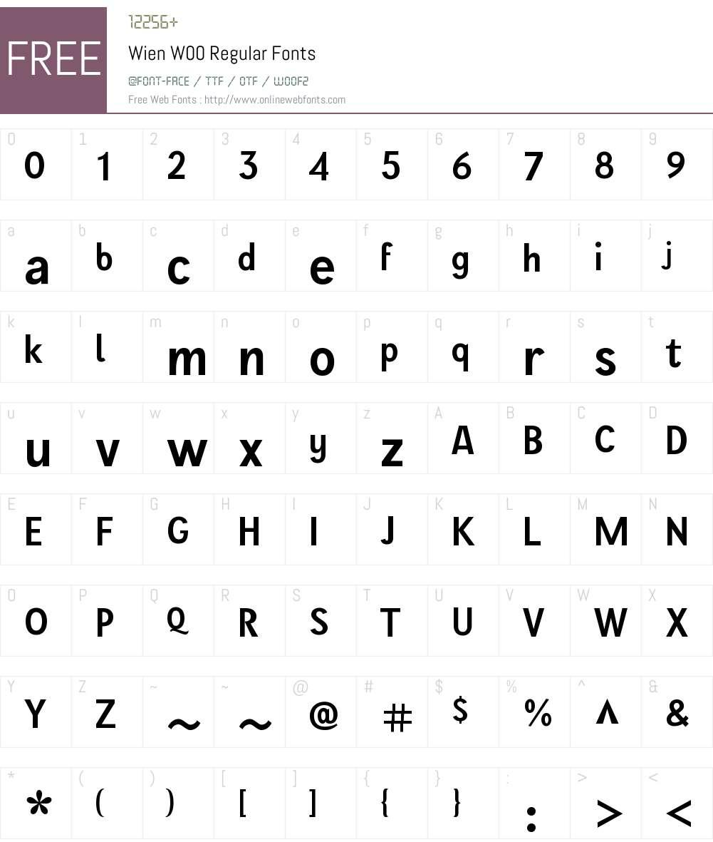WienW00-Regular Font Screenshots