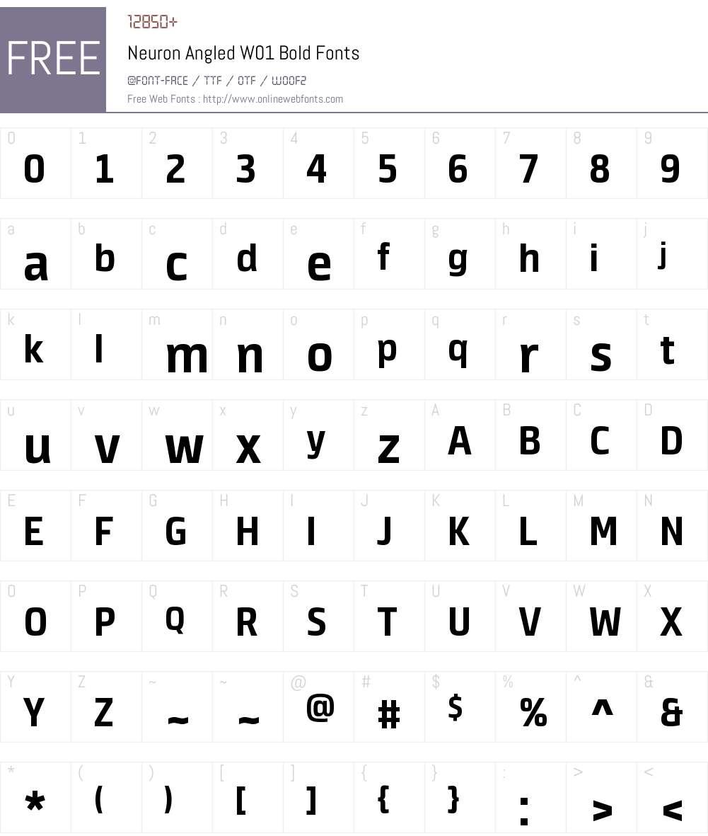 NeuronAngledW01-Bold Font Screenshots