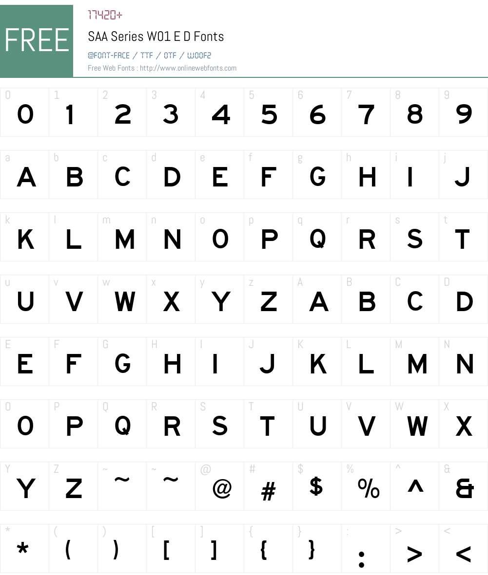 SAASeriesW01-ED Font Screenshots