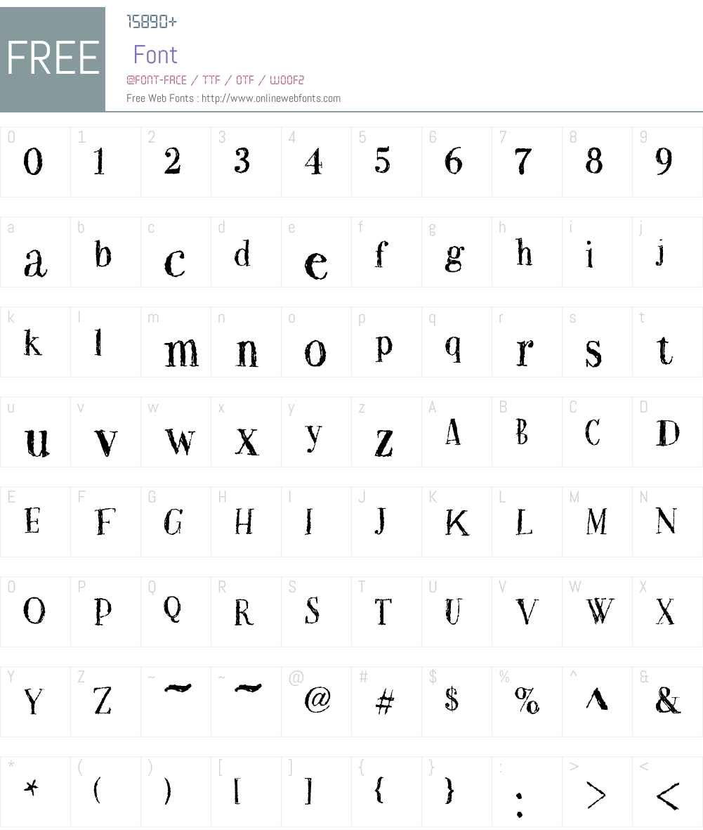 Two Fingers Bodoni Super Rough Font Screenshots