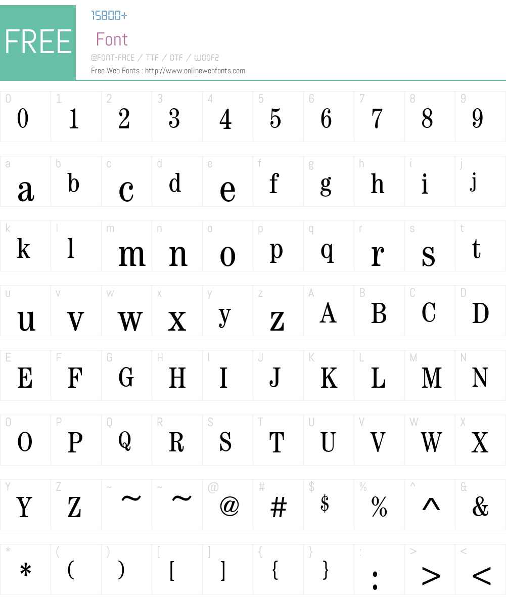 CenturyEF-BookCondensed Font Screenshots