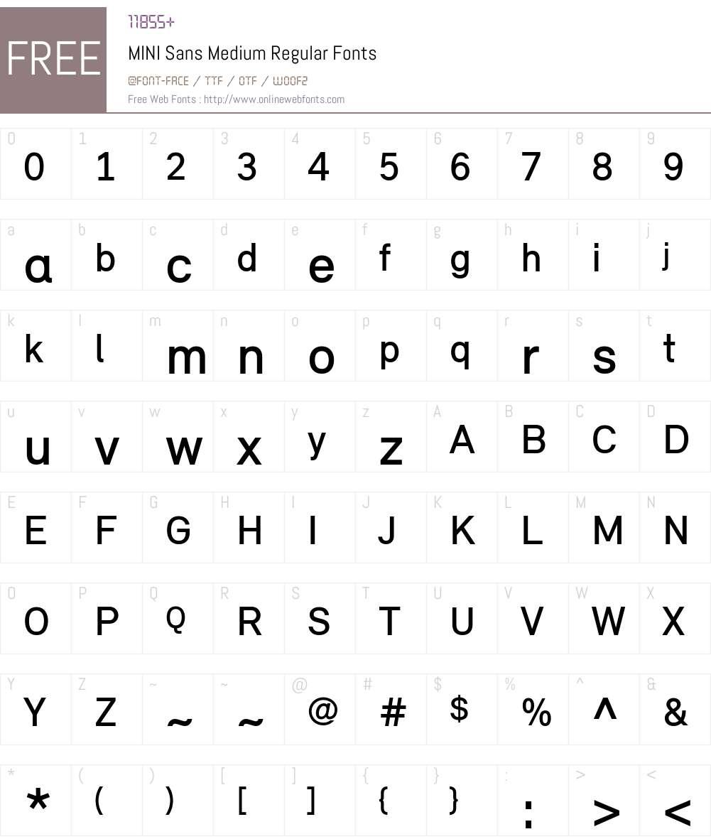 MINI Sans Medium Font Screenshots