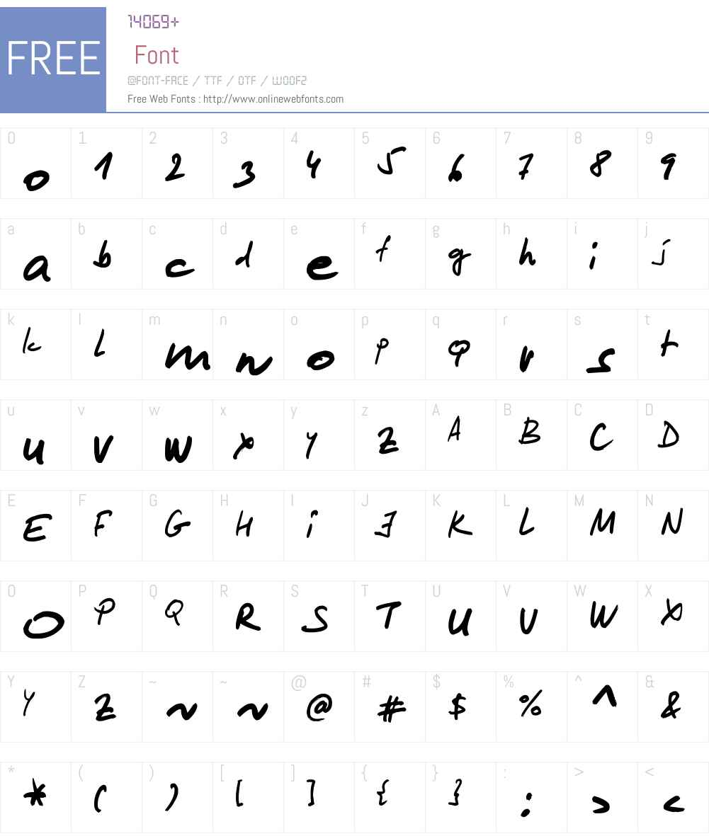 Lipsum Font Screenshots